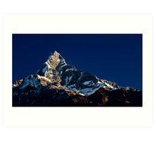Mt. Fishtail by Morning Light Art Print