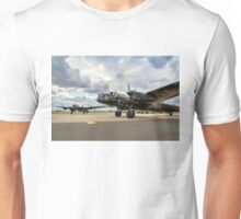 Two Lancasters taxying out at Waddington Unisex T-Shirt