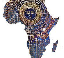 Africa map ancient by JBJart