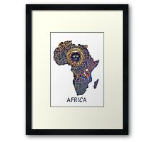 Africa map ancient Framed Print