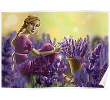 girl and the lavender field Poster