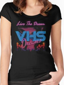 VHS Dreams Live the Dream - PALMS T-SHIRT Women's Fitted Scoop T-Shirt