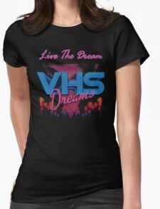 VHS Dreams Live the Dream - PALMS T-SHIRT Womens Fitted T-Shirt