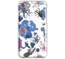 Octopus in blue ink iPhone Case/Skin