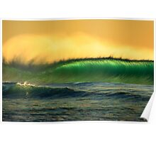 green waves Poster