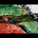Green Paint on Brick by Lynn Moore