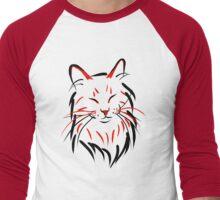 Zen Cat (Without Text) Men's Baseball ¾ T-Shirt