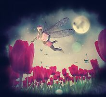 Fairy and Tulips 5 by AnnArtshock