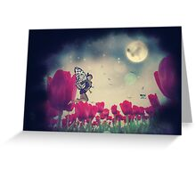 Fairy and Tulips 6 Greeting Card