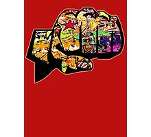 Graffiti covered fist Photographic Print