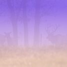 Elk in Purple Mist by Lisa G. Putman