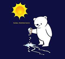Global Warming Sucks Polar Bear by PepomintNarwhal