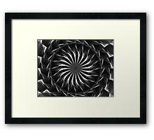Gray Kaleidoscope Art 11 Framed Print