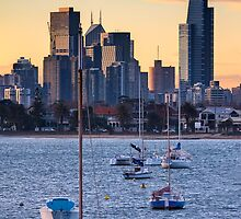 Melbourne Skyline from St KIlda Pier by Ben Harris