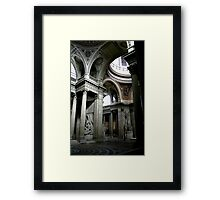 Pantheon interior in Paris in colour Framed Print