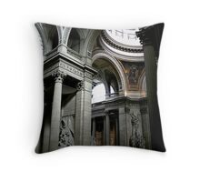 Pantheon interior in Paris in colour Throw Pillow