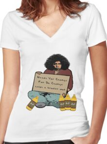 Obama Needs Change Women's Fitted V-Neck T-Shirt