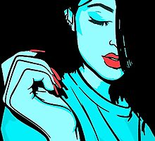 Kylie Jenner [Blue Vector] by ZVCHWILLIAMS