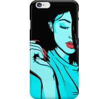 Kylie Jenner [Blue Vector] iPhone Case/Skin