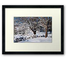 Blankets of Snow Framed Print