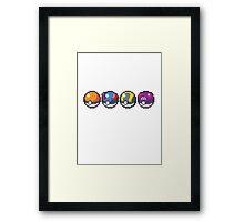 Pokeballs Framed Print