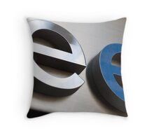 Two Hits of E Throw Pillow