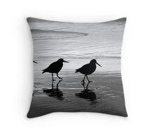 Oyster Catcher's Waltz Throw Pillow