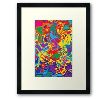 Very coloured map, spot of paint.  Framed Print
