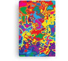Very coloured map, spot of paint.  Canvas Print