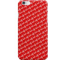Hot Wife Secrets: Hot Wife Motif - white on red iPhone Case/Skin