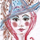 hat lady by Petra Pinn