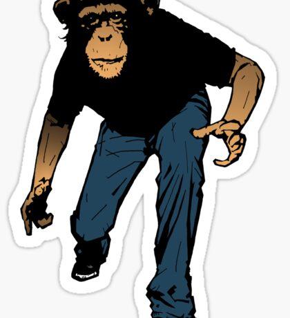 Prowling Monkey Sticker