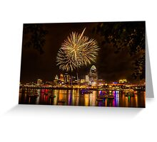 Firework on the River Greeting Card