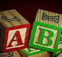 Wooden Alphabet Blocks  by Nelson Charette