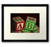 Wooden Alphabet Blocks  Framed Print