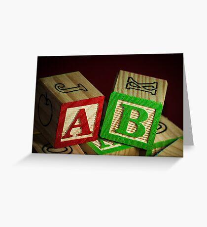 Wooden Alphabet Blocks  Greeting Card