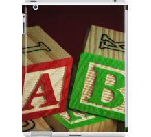 Wooden Alphabet Blocks  iPad Case/Skin