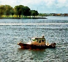 Police Boat Norfolk VA by Susan Savad