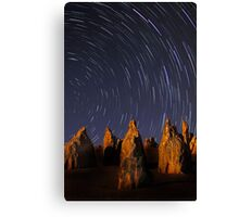 Star Trails At The Pinnacles  Canvas Print