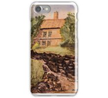Behind The House - Impressionistic Watercolor Painting iPhone Case/Skin