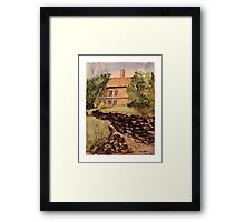 Behind The House - Impressionistic Watercolor Painting Framed Print