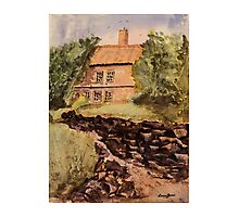 Behind The House - Impressionistic Watercolor Painting Photographic Print
