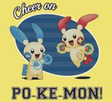 Cheer on PO-KE-MON! Kids Tee