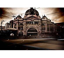 Flinders Street, Melbourne  Photographic Print