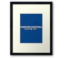 Champagne Basket 2 Blue Framed Print