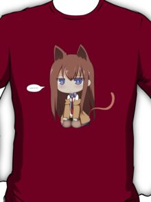 steins gate kurisu makise anime manga shirt T-Shirt