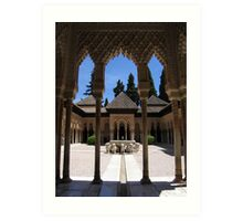 Palace within the Alhambra, Granada, Spain Art Print