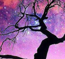 Nature Galaxy Nebula Tree Sticker