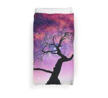 Nature Galaxy Nebula Tree Duvet Cover