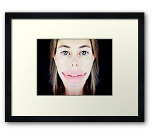 ;0) Framed Print